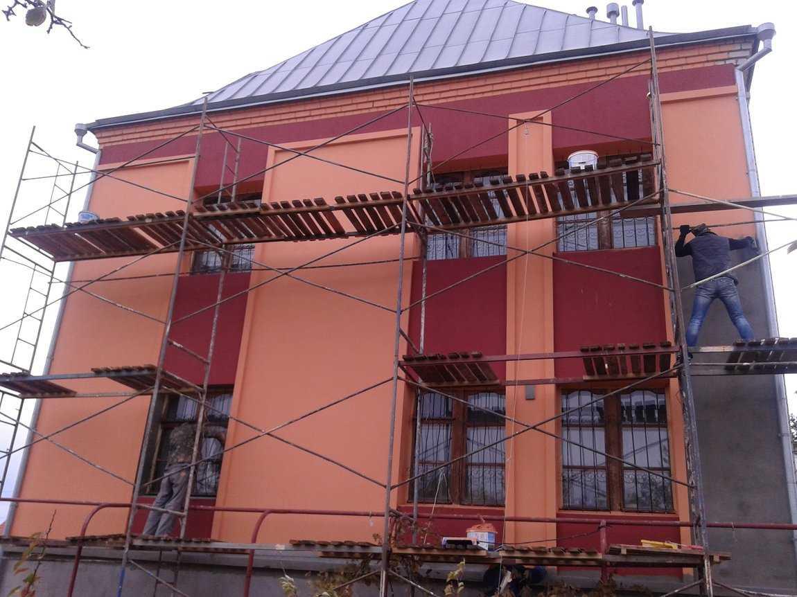 краска покраски фасадов домов