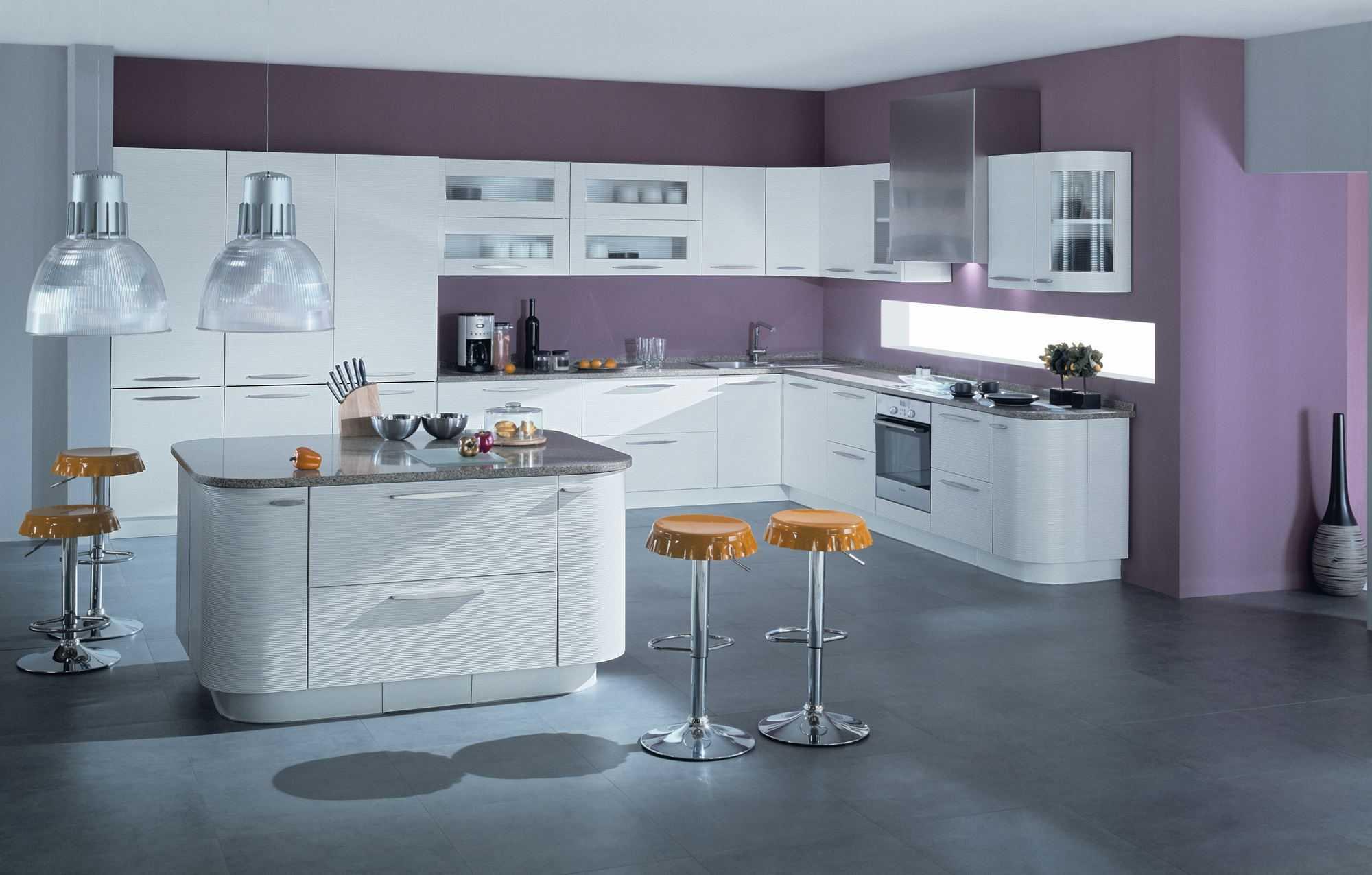зонирование комнаты кухни