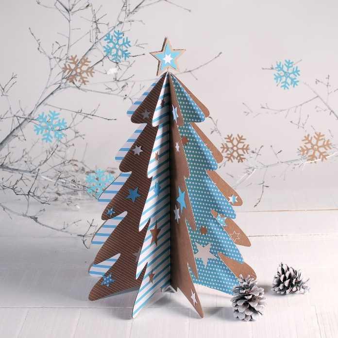елка из картона самостоятельно