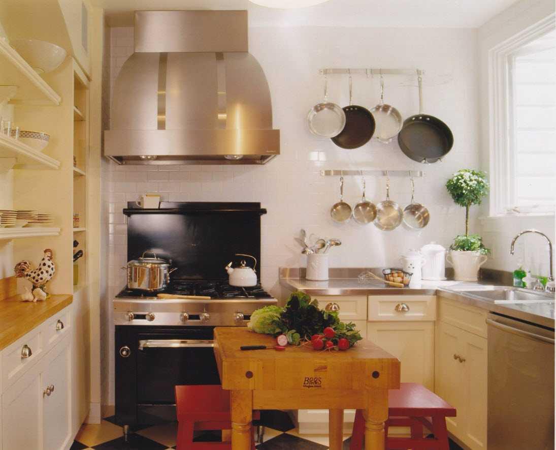 дизайн маленькой кухни 2016