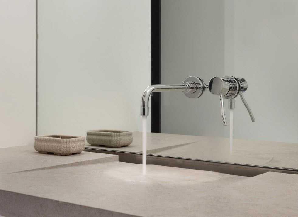 минималистический дизайн ванной