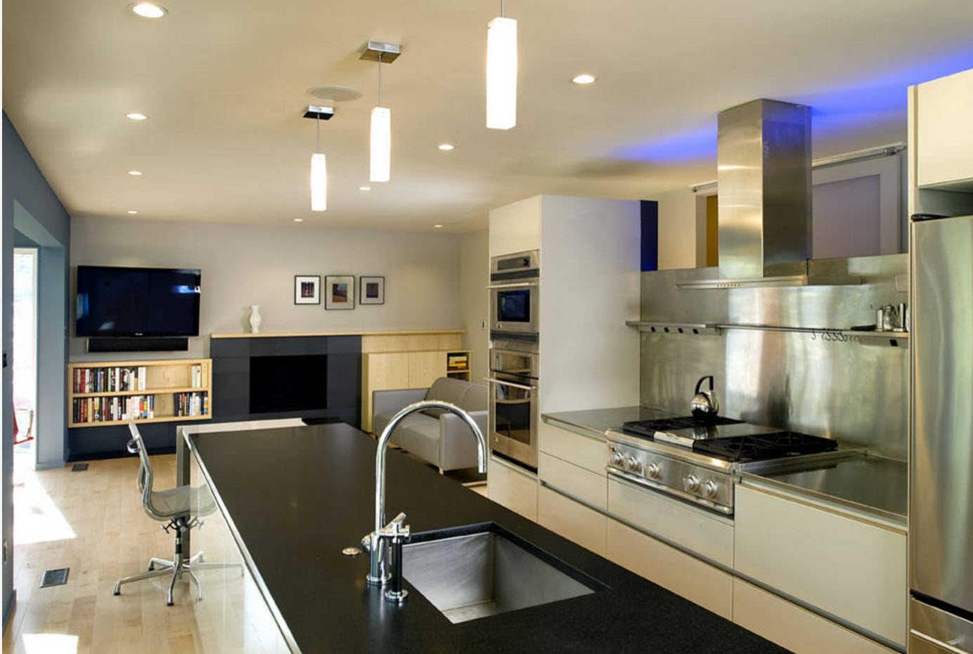 кухня гостиная фото