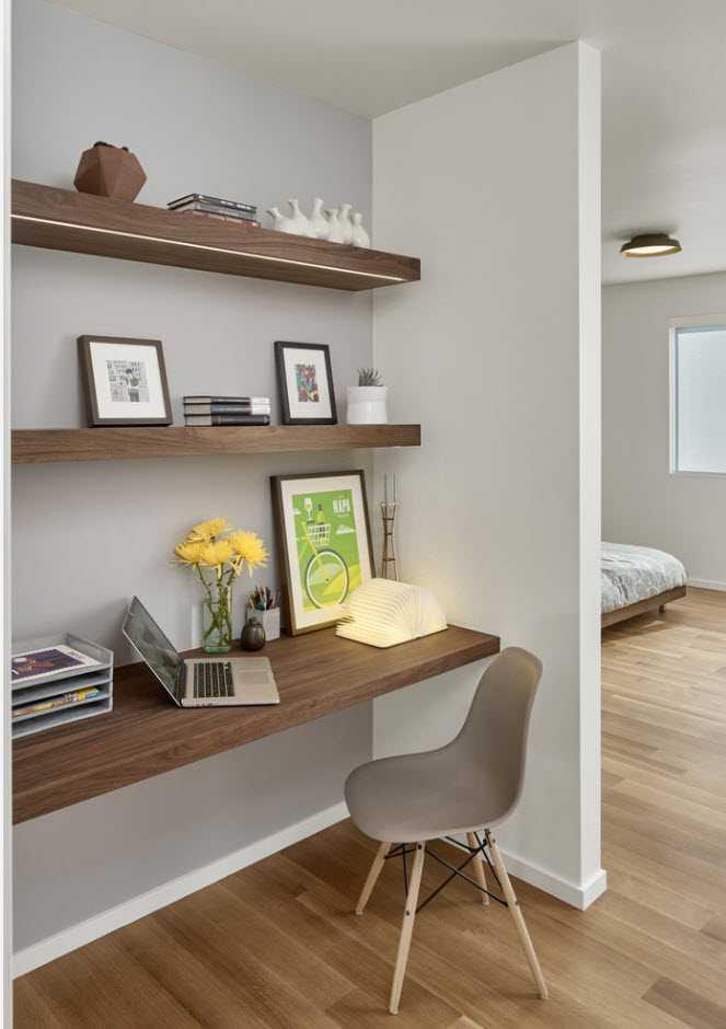 дизайн спальни кабинета