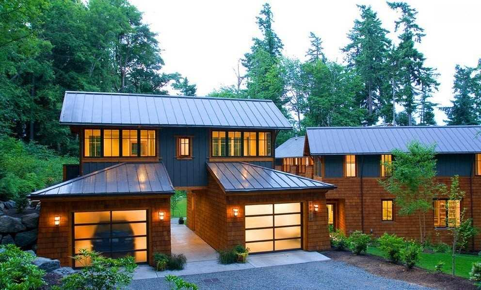 дом с гаражом фото