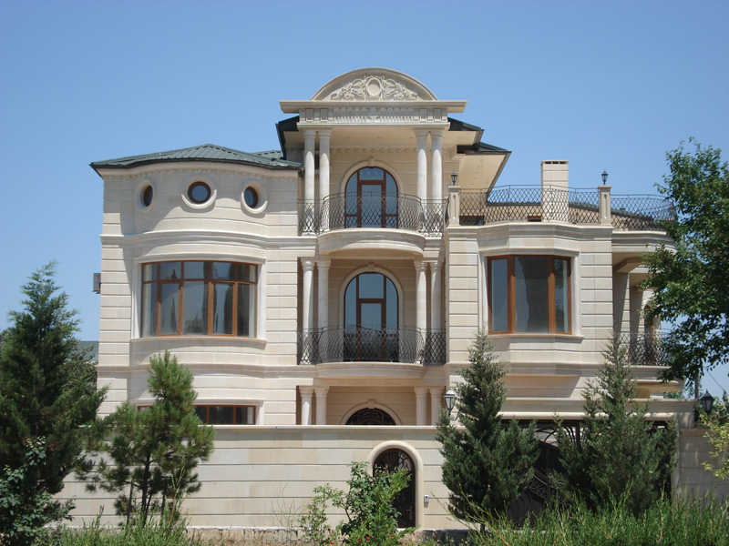натуральный камень отделки фасада дома