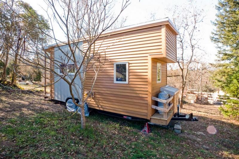 деревянный дом на колесах