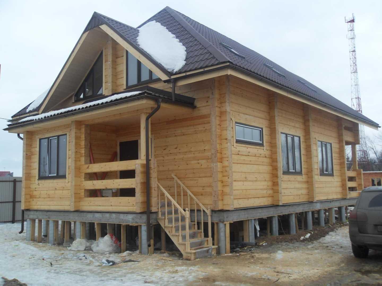 как залить фундамент под деревянным домом