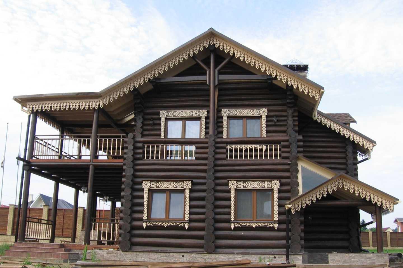 Варианты отделки деревянного фасада
