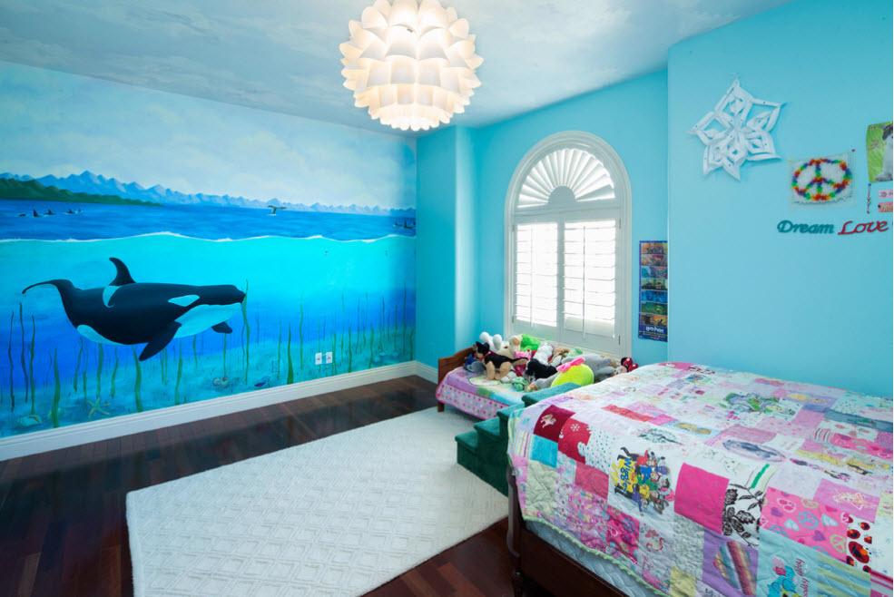 художественная роспись стен в интерьере