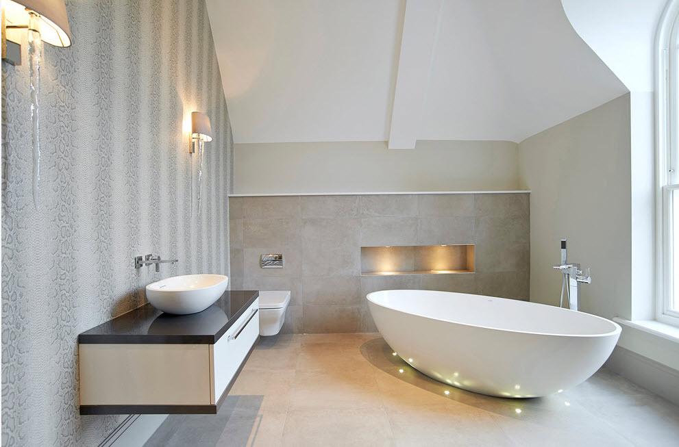 освещение потолка в ванной комнате