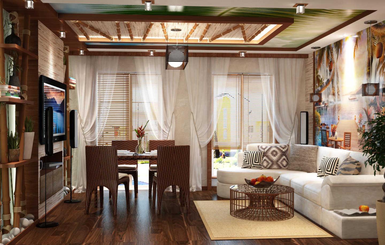 бамбук для оформления интерьера