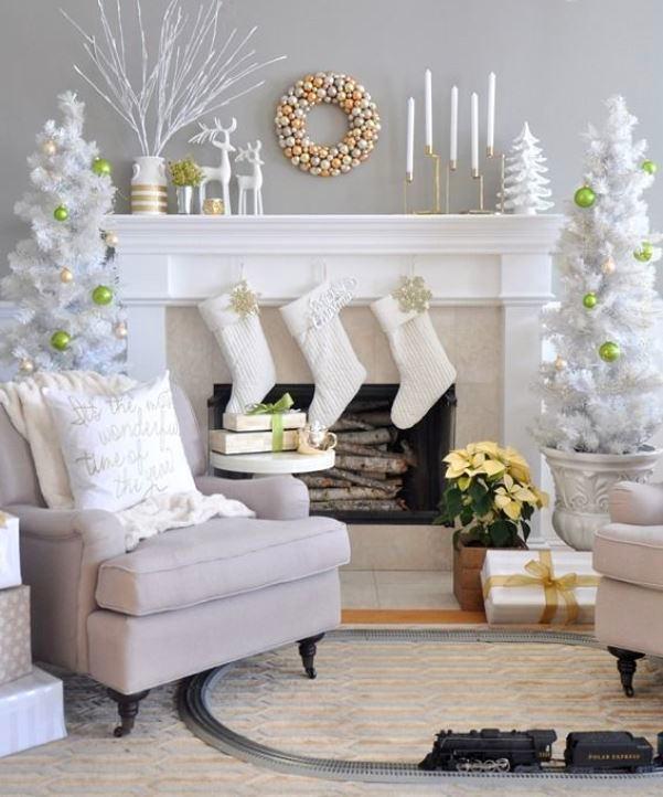 Украшение гостиной на Новый год 2