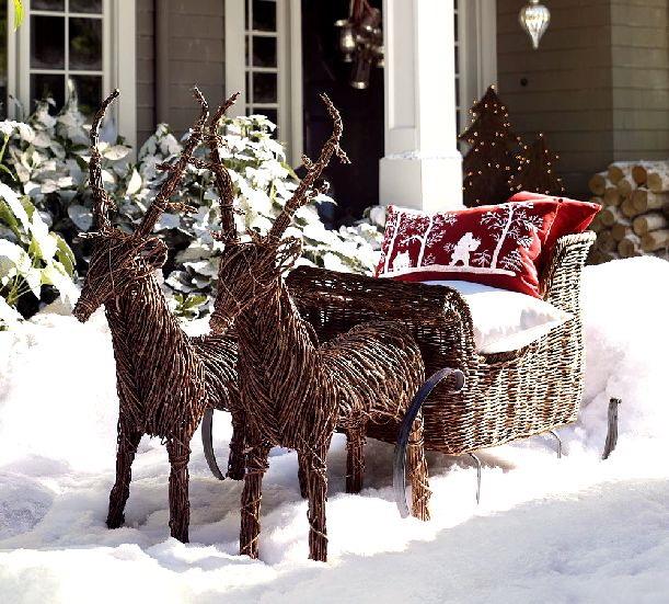 Украшение крыльца к Рождеству 7