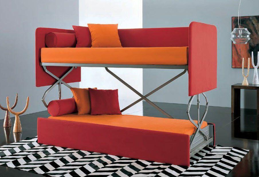 Двухъярусная кровать в интерьере 12