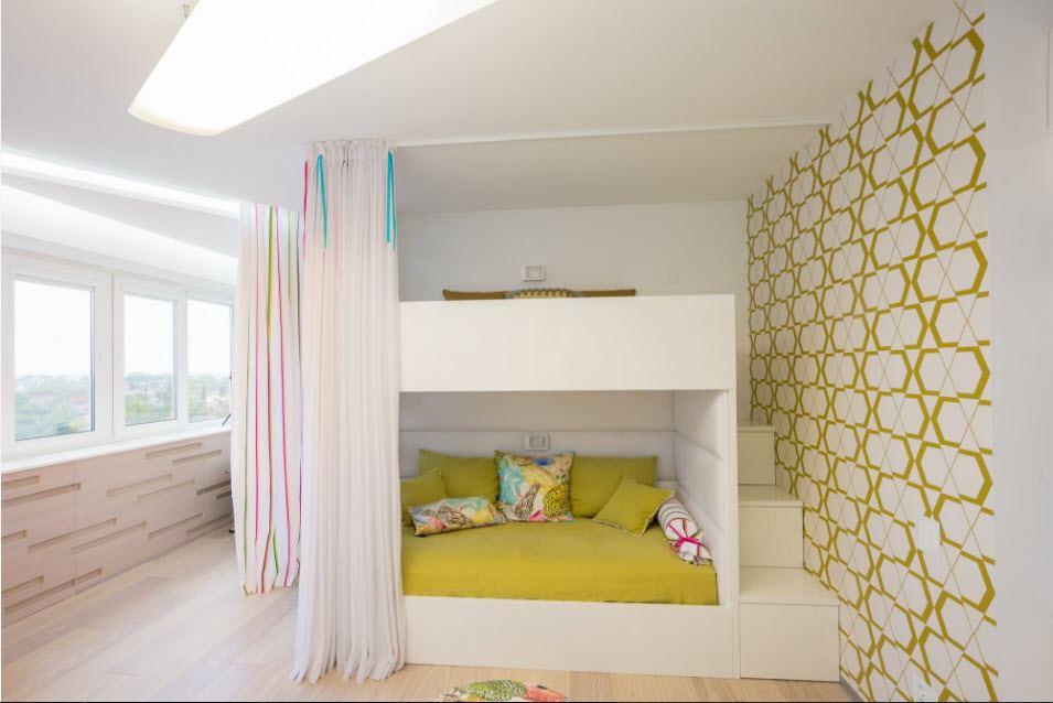 Двухъярусная кровать в интерьере 3