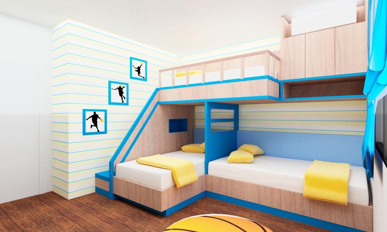 Двухъярусная кровать в интерьере 9