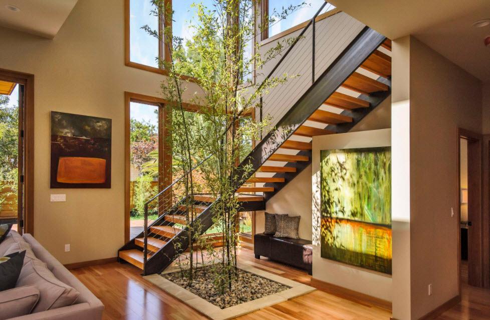 Лестница в деревянном доме 13