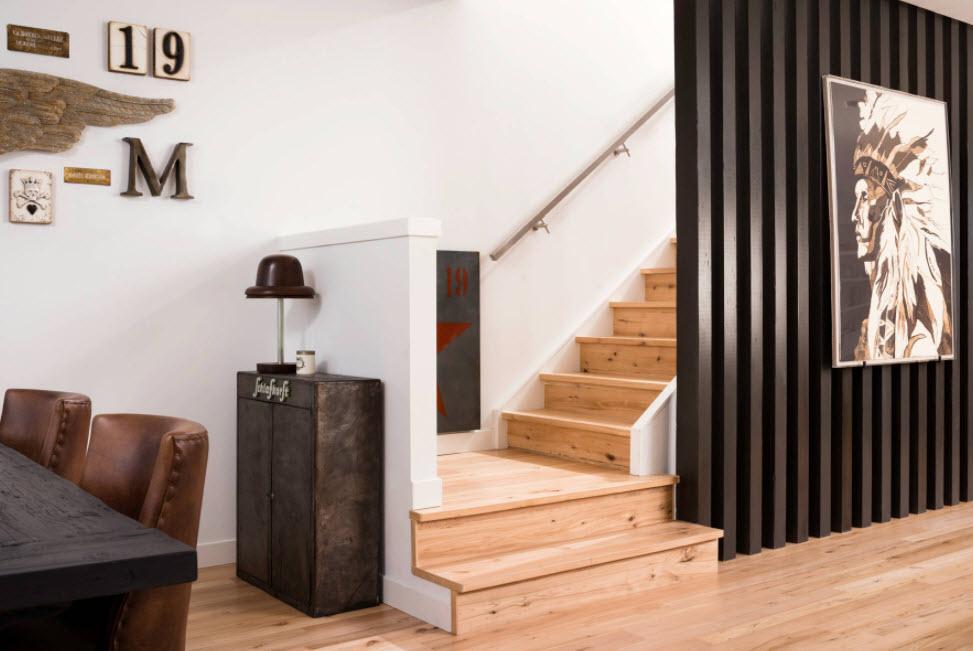 Лестница в деревянном доме 14