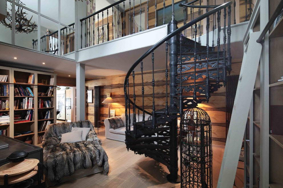 Лестница в деревянном доме 3