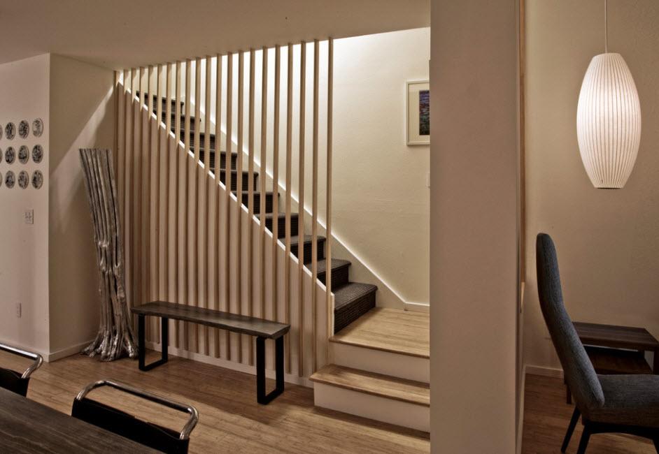 Лестница в деревянном доме 9