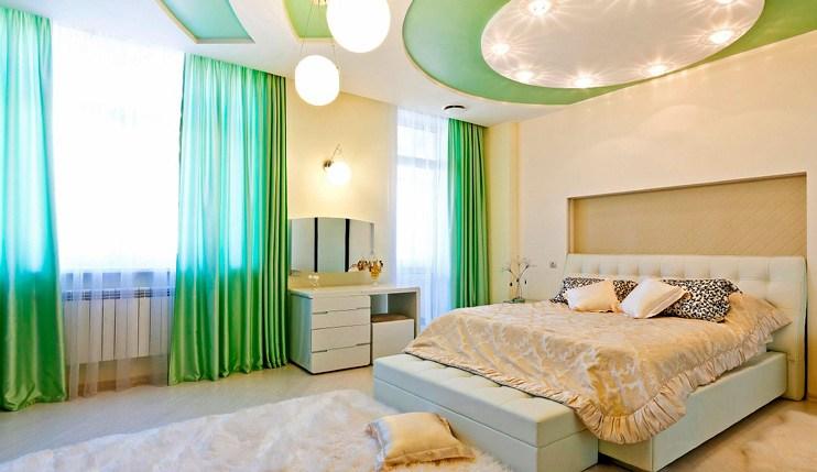 Натяжной потолок для спальни 4