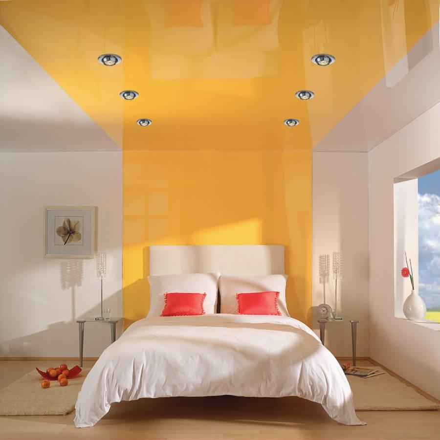 Натяжной потолок для спальни 6