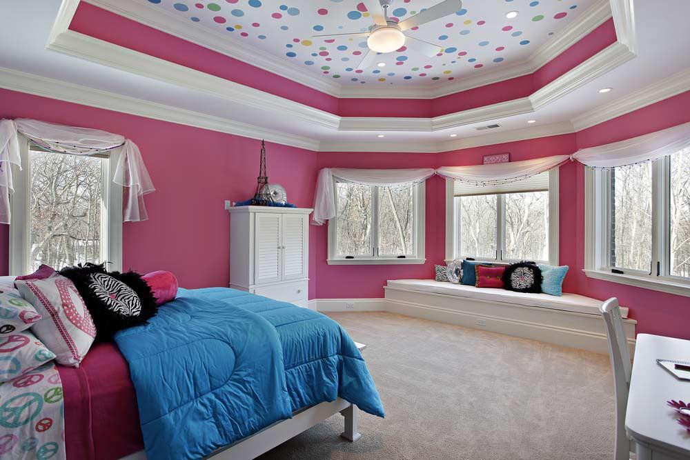 Натяжной потолок для спальни 8