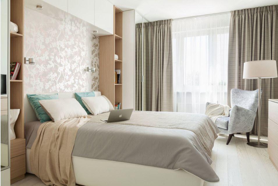 Натяжной потолок для спальни 9