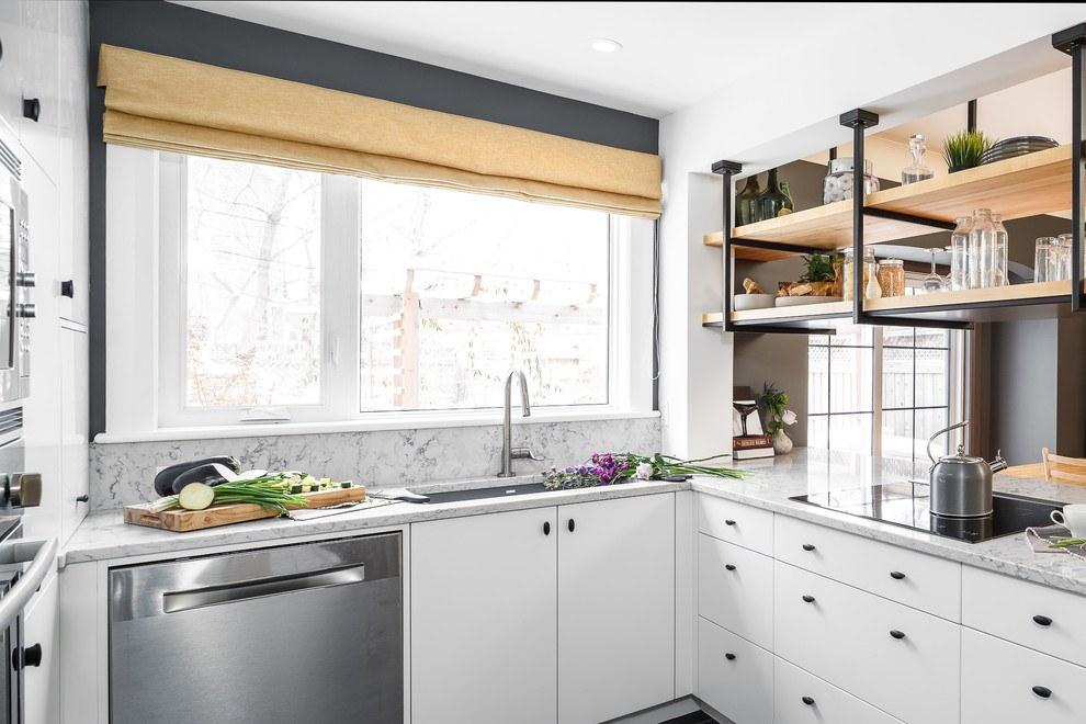 Обустройство маленькой кухни 11