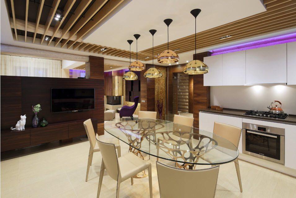 Потолок в деревянном доме 1