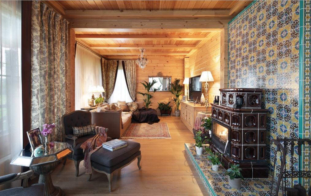 Потолок в деревянном доме 3