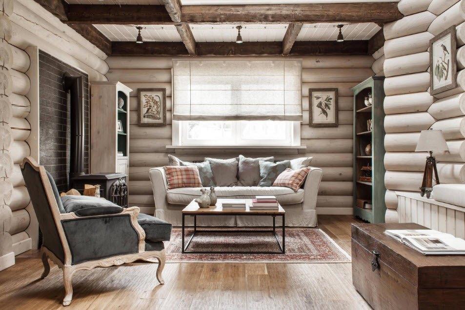 Потолок в деревянном доме 5