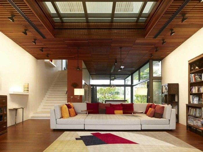 Потолок в деревянном доме 6