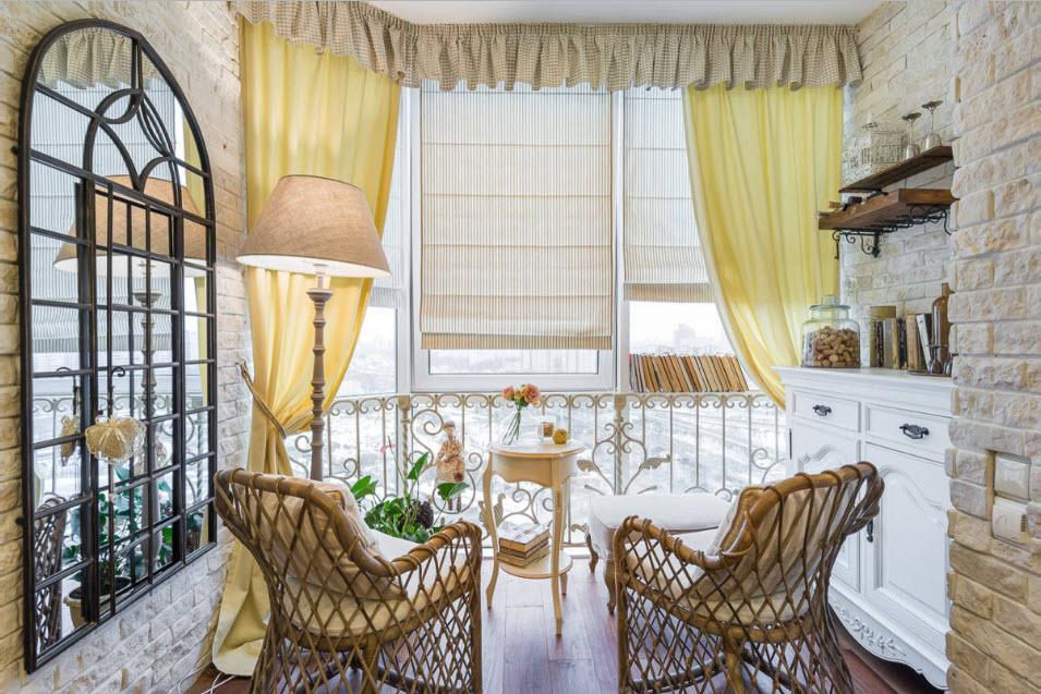 Внутренняя отделка балкона 6